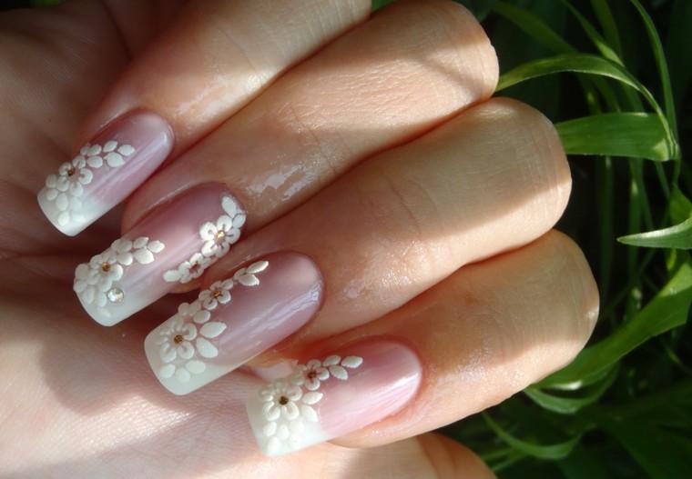Свадебные ногти фото френч