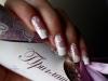 Френч с дизайном, маникюр невесты. Наращивание ногтей в Челябинске