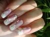 Свадебный френч с дизайном. Наращивание ногтей в Челябинске