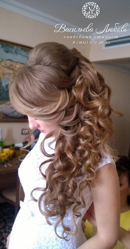Свадебный макияж и прически в Челябинске с выездом на дом, прическа на длинные волосы, греческая коса Челябинск