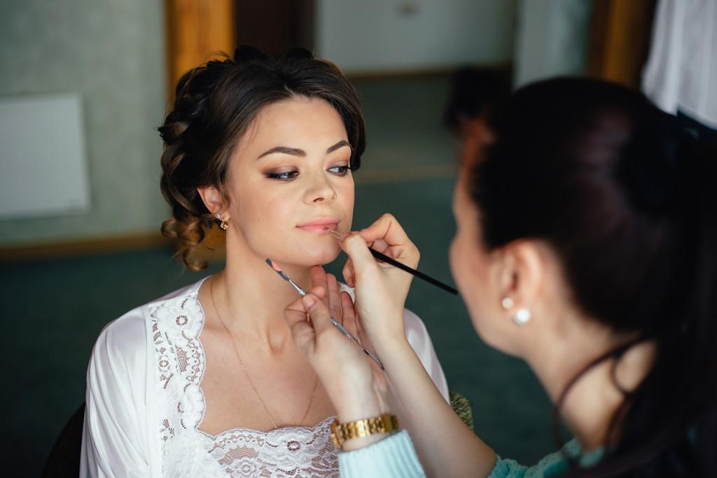 свадебное утро макияж прически свадебный стилист Челябинск Васильева Любовь